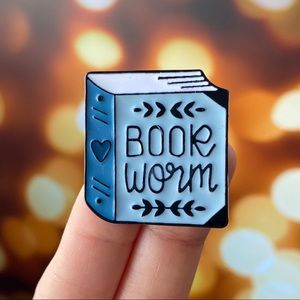 Bookworm Enamel Pin/ Brooch